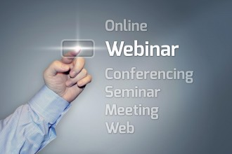 Virtual Touchscreen with Webinar wording