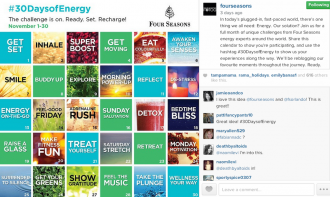 Four Seasons lays out a month of healthy activities as part of its #30DaysofEnergy challenge.