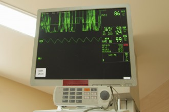 Monitor in ICU.http://www.istockphoto.com/stock-photo-4481784-vital-signs.php?st=8d7dc1b
