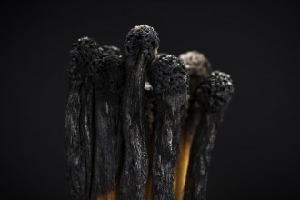 Concept photo showing  burned out matches illustrating the burned out and leadership business metaphor