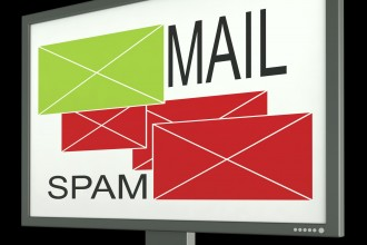 Mail And Spam Envelopes On Monitor Showing Rejected And Accepted Emails