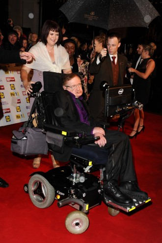 Stephen Hawking arriving for the 2012 Pride of Britain Awards, at the Grosvenor House Hotel, London. 29/10/2012 Picture by: Steve Vas
