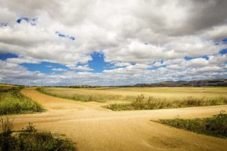 crossroad outdoor in the sardinian countryside