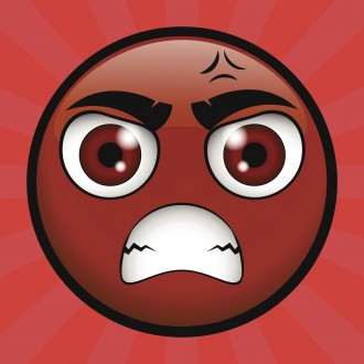 yellow emoticon very angry on you