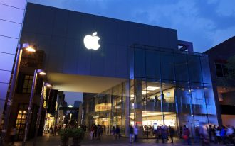 BEIJING, CHINA - MAY 13, 2012: Apple Retail store in Sanlitun. Apple is expected to unveil the iPhone 6 at a media event on Sept. 9, 2014. It's also expected to unveil the iWatch
